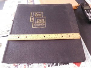 White Ace Album Large Size Plate Blocks & Long Covers Holds 100 Back to Back