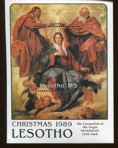 LESOTHO Souvenir Sheet Wholesale Lot - #749 The Coronation of the Virgin - O34