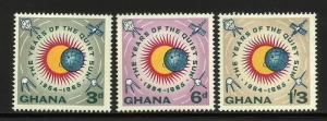 Ghana 1964 Scott# 186-188 MNH