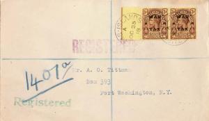 Turks & Caicos Is. 3d KGV Overprinted War Tax (2) 1919 Turks Islands Register...
