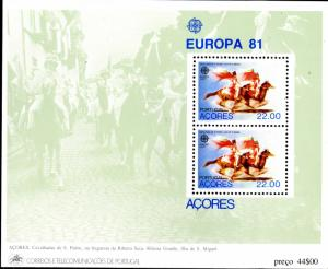 Azores MNH S/S 322A St. Peters Cavalcade St. Miguel Island Europa SCV 5.50
