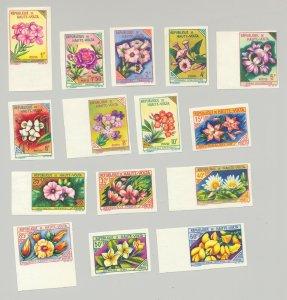 Upper Volta #112-126 Flowers 15v Imperf