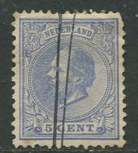 Netherland - Scott 23 - King William III -1872- Used - Single 5c stamp