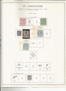 ST CHRISTOPHER OLD GROUP 1870-90 MH/USED SCV $190++