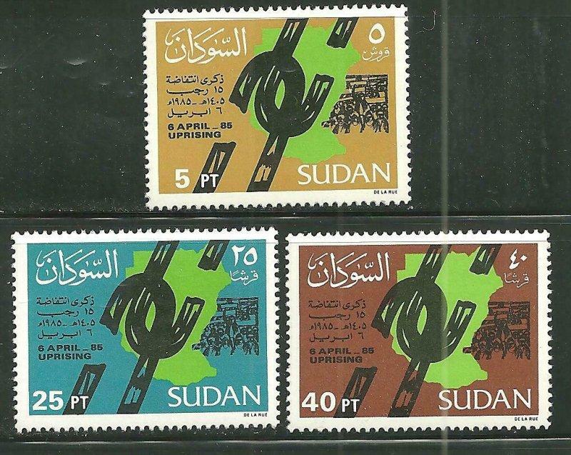 Sudan MNH 347-9 1st Anniversary April 6th Uprising