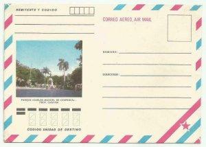 Cub1980´s Postal Stationery Park Carlos M. Cespedes, Province. Granm New