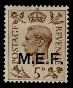 BRITISH OC OF ITALIAN COLONIES GVI SG M15, 5d brown, M MINT.