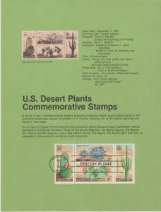 US SP570 Desert Plants Souvenir Page #1945a