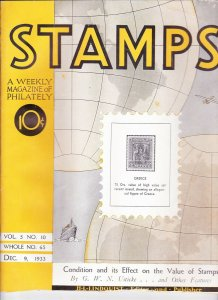Stamps Weekly Magazine of Philately December 9, 1933 Stamp Collecting Magazine