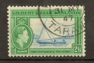 Gilbert & Ellice Islands 1939 2/6d SG53 Fine Used