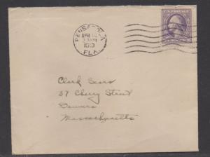 **Florida Machine Cancel Cover, Pensacola, FL, 4/18/1919
