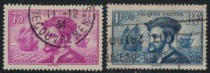 France #296-7  CV $6.50  Jacques Cartier