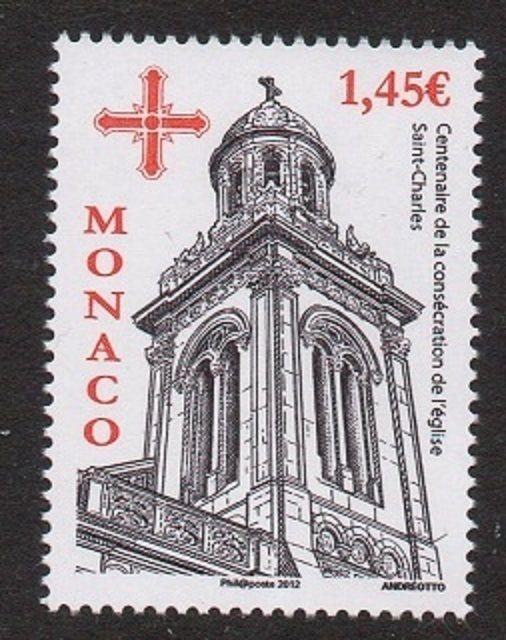 Monaco 2012 St. Charles Church VF MNH (2692)
