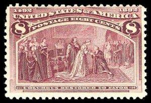 U.S. COLUMBIAN ISSUE 236  Mint (ID # 80617)