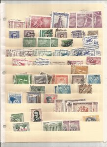 CHILE COLLECTION ON STOCK SHEET, MINT/USED