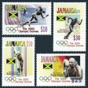 Jamaica 930-933,MNH. Olympics Sydney-2000.Sculpture by Alvin Marriott.