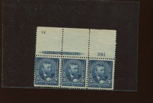 Scott 281 Grant Mint Plate # Strip of 3 Stamps (Stock 281-4)