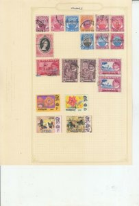 MALAYSIA / STATES  6 ALBUM PAGES OF MINT/USED VALUES/SETS