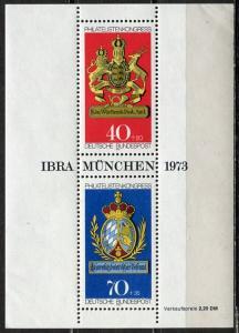 Germany; 1973: Sc. # B502: **/MNH Souvenir Sheet