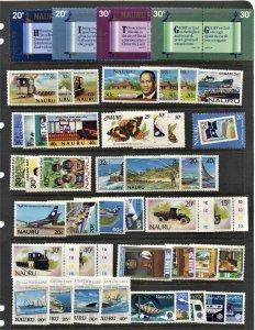 STAMP STATION PERTH Narau #47 MNH Selection Various Sets - Unchecked