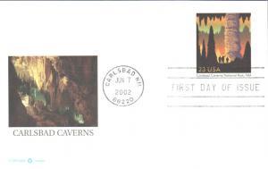 #UX381 Carlsbad Caverns Fleetwood FDC