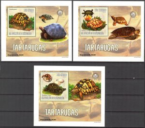 {065} Sao Tome & Principe 2006 Turtles 3 S/S Deluxe MNH**