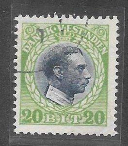 Danish West Indies (DWI) Scott #54 Used  2018 CV $55.00