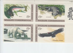 1971 USA Wildlife Conservation B4  (Scott 1427-30) MNH