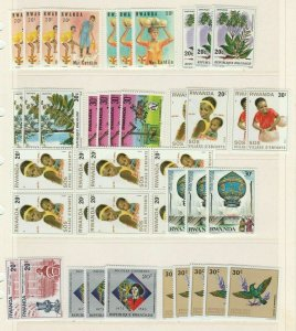 Rwanda Africa Motive Topical Stamps MNH** Lots Tematiche Lotto Raccolta 13791