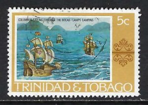 TRINIDAD & TOBAGO 262 VFU COLUMBUS H1246-4