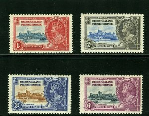 Bechuanaland Protectorate #117-120 (BE322) Complete 1935 Silver Jubilee, MNH, VF