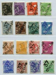 GERMANY SOVIET ZONE HOP BEZIRKSHANDSTEMPEL BEZIRK 37 166-181 VIII PERFECT NH 115