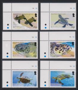 BIOT Turtles 6v Corners SG#312-317 SC#290-295