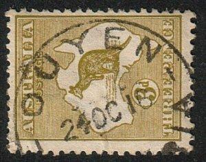 AUSTRALIA 1916 3d SG37 OUYEN / VICTORIA cds................................15192