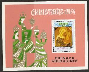 Grenada Grenadines MNH S/S 40 Christmas 1974