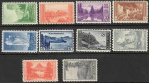 US #740-49 M/NH National Parks Series 45% of SCV $15.95 **FREE SHIPPING**