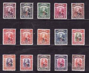 Sarawak-Sc#159-73- id7-unused NH 1947 definitive set -