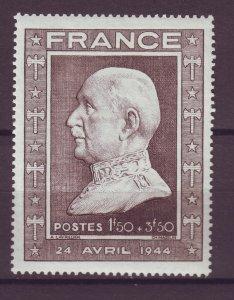 J25048 JLstamps 1944 france hv of set mh #b175 marshal petain
