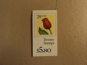 USPS Scott 2527 29c Book Of 20 Stamps Flower Mint 1992