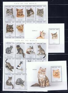 Sierra Leone 1892-95 MNH 1996 Cats sheets and S/S