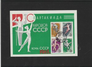 Russia Used  Sports Stamps Sheet 1963 ref R 16689