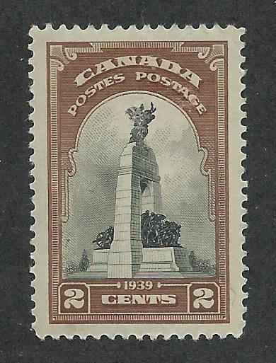 247 MNH, XF-S, 2c. War Memorial, Canada