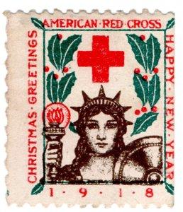 (I.B) US Cinderella : Red Cross Christmas Seal (1918) version B