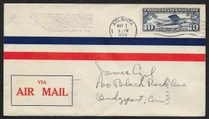 UNITED STATES #C10 on First Flight Cover 1928 Atlanta to New York