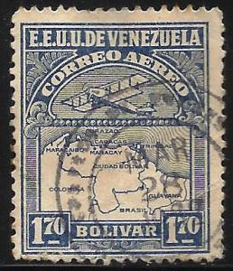 Venezuela Air Mail 1930 Scott# C9 Used