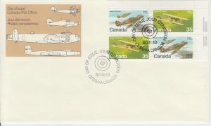 1980 Canada Military Aircraft (Scott 875-76) Ins Blk FDC