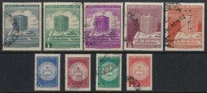 Paraguay #598-604,C297,9  CV $7.70