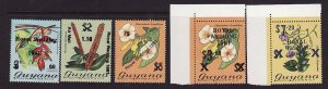 Guyana-Sc#331-5-unused NH set-Royal Wedding 1981 overprinted-