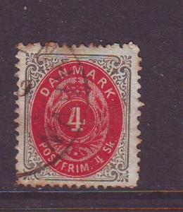 Denmark Sc 18 1870 4 sk  stamp used