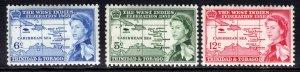Trinidad & Tobago 1958 QE2 Set Inauguration Umm SG 281 - 283 ( J91 )